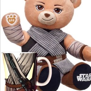 Build-A-Bear Star Wars Rey Bear 🐻 and coffee mug